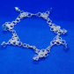 Silver plated chainmaille anklet with Swarovski Crystal Bicone charms