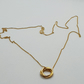 Gold plated Sterling Silver ring pendant and chain