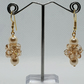 Swarovski crystal and Shell Pearl Earrings