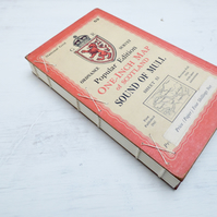 Hardback journal with vintage map covers and mixed paper pages