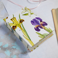 Small, hardcover, floral journal, notebook or sketchbook A7