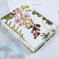A7 floral journal, notebook or sketchbook with hard cover