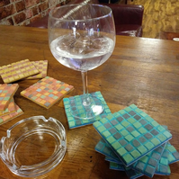 Set of Four Mosaic Coasters