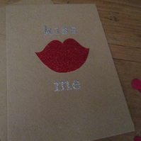 Valentines Day Card - Kiss Me - Valentines Card