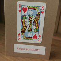 King of My Hearts Valentines Day Card - Valentines Day Card - Valentines