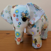 REDUCED Blue and Yellow Bee Print Elephant