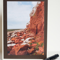 Photographic blank greetings card - Old Hunstanton cliffs