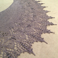Dying Winter Rose Shawl