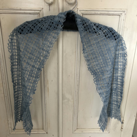 Blue Lace Scarf