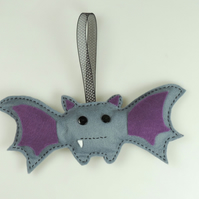 Large Handmade Felt Halloween Bat, Hanging Decoration