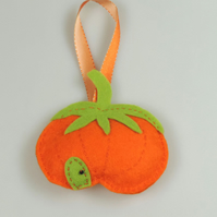 Autumn Pumpkin House Handmade felt decoration, Halloween Decoration, Fairy House