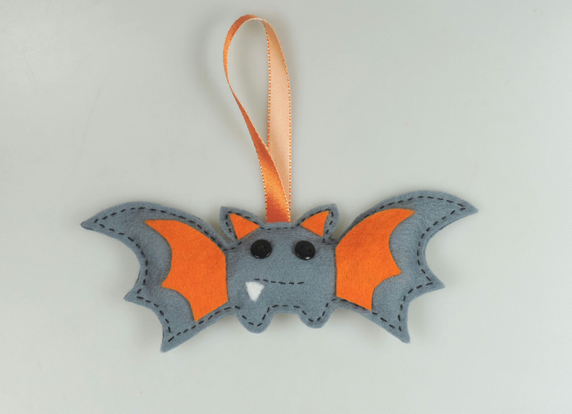 Handmade Felt Bat, Halloween Twig Tree Decoration