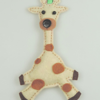 Handmade Cute Giraffe Hanging decoration, Twig Tree Decoration