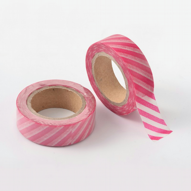 Pink Stripe, Candy stripe, Decorative Washi Tape, Cards, Crafts,Tape