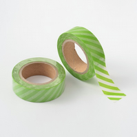 Green Stripe, Candy stripe, Decorative Washi Tape, Cards, Crafts,Tape