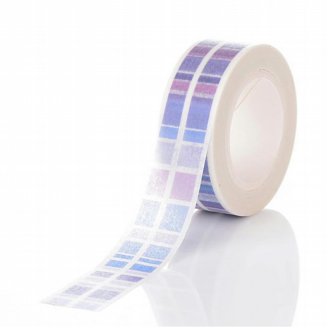 Blues Purples Check Square pattern, Decorative Washi Tape, Cards, Crafts,Tape