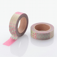 Hearts pattern,Pinks, Decorative Washi Tape, Cards, Crafts, journals, 10m