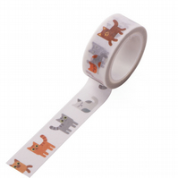 Cats & Kittens Washi Tape, 5m, Cat Decorative Tape, Cards, Journals, Crafts