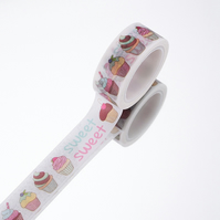Cup Cake Sweets Washi Tape, 5m, cute Decorative Tape, Cards, Journals, Crafts