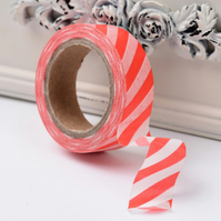 Red Stripe, Candy stripe, Decorative Washi Tape, Cards, Crafts,Tape