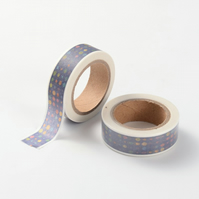 Spotty, Dotty Dark blue Decorative Washi Tape, Cards, Crafts,Tape