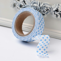 Polka Dot, Blue & White Spot, Decorative Washi Tape, Cards, Crafts,Tape