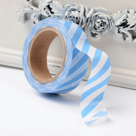 Blue Stripe, Candy stripe, Decorative Washi Tape, Cards, Crafts,Tape
