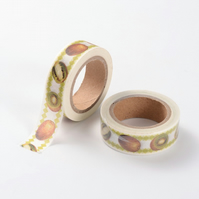 Kiwi Fruit, Washi Tape, Decorative Adhesive Tape, Patterned Tape, Scrap booking,