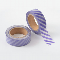 Purple Stripe, Candy stripe, Decorative Washi Tape, Cards, Crafts,Tape