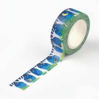 Summer Eve Lightening bug, Firefly Washi Tape,Decorative Tape, Cards, Journals,