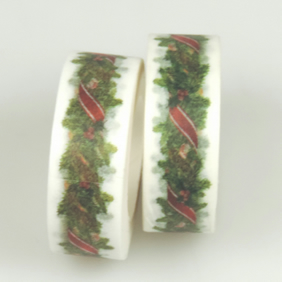 Christmas Garland Washi Tape,Decorative Tape, Cards, Journals, Seasonal Crafts