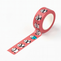 Panda Pattern, Cartoon super cute panda pattern Washi Tape, 10m reel