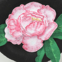 Peony Flower Hand stitched felt decorative hanging