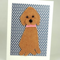 Labrador Dog Card, Blank inside, Birthday, Greeting, Get well, Anniversary