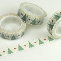 Christmas Tree 15mm Washi Tape, 10m,  Decorative Tape, Cards, 10m