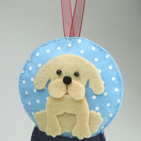 Labrador dog, Handmade Felt Snow globe Christmas Decoration, Dog Lovers GIft