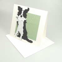 Collie Sheepdog Card, Blank inside, Birthday, Greeting, Universal gift card