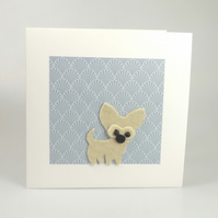 Chihuahua Card, Blank inside, Birthday, Greeting, Universal gift card