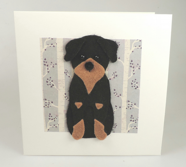 Rottweiler Dog Card, Blank inside, Birthday, Greeting, Universal gift card