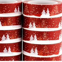 Christmas Wonderland, Snow, Washi Tape,Decorative Tape, Cards, Journals, Crafts