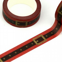 Santa's Belt, Washi Tape,Xmas Decorative Tape, Cards, Journals, Seasonal Crafts,