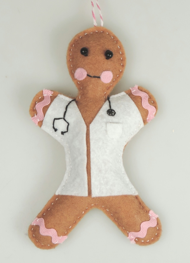 Doctor, Scrub Nurse Themed Gingerbread men, Christmas Gift, Xmas tree Decoration