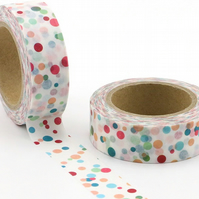 Multi-spot rainbow pattern, Decorative Washi Tape, Cards, Crafts, Journals,Tape,