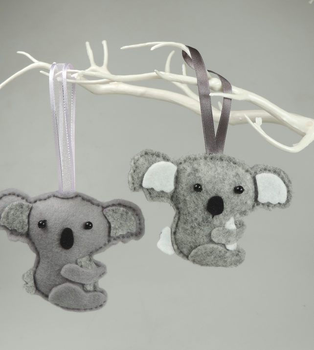 Kawaii Felt Koala, Hanging Decoration,Twig Tree 50% to WIRES Australian Charity