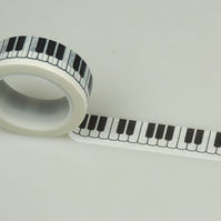 Keyboard, Music Washi Tape, Piano keys Decorative Tape, Cards, Journals, 10m