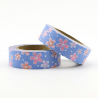 Sakura Japanese Cherry Blossom Washi Tape, Decorative Tape, Cards, Journals, 10m