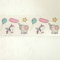 Magical unicorns & Elephants Birthday Tape, Decorative Washi Tape, Cards,Crafts