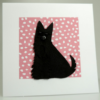 Scottie Dog Card, Blank inside, Birthday, Universal card, Scottish Terrier