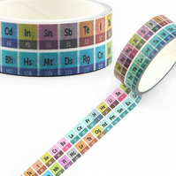 Periodic Table of elements Washi Tape, 5m, Decorative Tape, Cards, Journals,