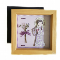 3D Japanese lady framed picture